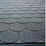 Dachschindeln Biberschwanz - Farbe: schwarz
