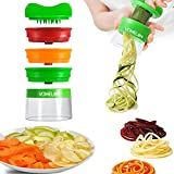 Spiralschneider, 3-Klingen Gemüseschneider, Gemüsehobel, Gemüsespaghetti Für Karotte, Gurke,...