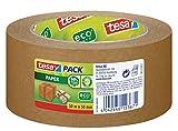 tesapack Paper Packband mit ecoLogo / Starkes und reißfestes Paketband von tesa in Braun / 50 m x...