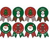 Candy Tasche Label, 96Stück Weihnachten Label Geschenk fadensiegelung Papier Aufkleber für...