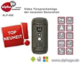 LAN IP SIP Video Türsprechanlage ALP600 - 8GB Speicher - 12V Gleichspannung - Überwachungskamera -...