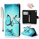 Sony Xperia XA Wallet Case YOKIRIN Sony Xperia XA Flip Hülle PU Leder Tasche Flipcase Schuthülle...