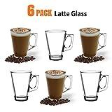 Latte-Macchiato-Gläser, 245ml / 8oz 6 Stück - Kompatibel mit Tassimo Kaffeemaschine & die meisten...