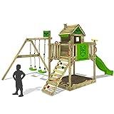 FATMOOSE Stelzenhaus RockyRanch Roll XXL Spielturm Spielhaus mit Doppelschaukel, Rutsche und großem...