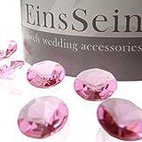 100x FUNKELNDE Diamantkristalle 12mm rosa EinsSein® Dekoration Dekosteine Diamanten FUNKELNDE...