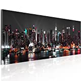 murando® XXL Panoramabild –Vlies Leinwand - Kunstdrucke – Skyline New York NY Stadt City 135x45...