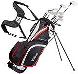 Wilson Anfänger-Komplettsatz, 10 Golfschläger mit Carrybag, Herren, Rechtshand, Stretch XL,...