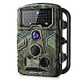 APEMAN Wildkamera mit Bewegungsmelder 1080P 12MP 120° Weitwinkel Nachtsicht 20 m mit 2.4' LCD...