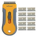int!rend Premium Ceranfeldschaber mit 11 Klingen - verbesserte Schutzfunktion zur sicheren und...