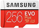 Samsung EVO Plus Micro SDXC 256 bis zu 100MB/s, Class 10 U3 Speicherkarte (inkl. SD Adapter)