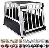 WOLTU® Alu Hundetransportbox Hundekäfig Autohundebox 1 Türig Reisebox Hundebox 69*54*51 cm...