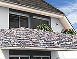 Windschutz Sichtschutz Balkonbespannung Balkonsichtschutz 500cm x 90 cm Steinoptik