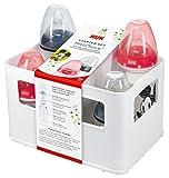 NUK Disney Mickey First Choice+ Starter Set mit 4 Anti-Colic Weithalsflaschen (2x 150ml und 2x...