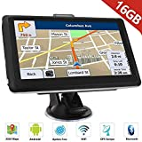 HiEHA 7' Zoll GPS Navigationsgerät Navi Navigation LKW PKW Bluetooth Europe Traffic Android 16GB...