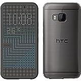 HTC Dot View Ice Premium Case Cover Schutzhülle für HTC One M9 onyx