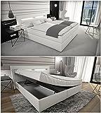 SAM® Design Boxspringbett Sidney mit Samolux®-Bezug, weiß, LED, Bonellfederkern-Matratze, Box mit...