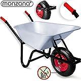 Monzana® Schubkarre 100 LITER ✔ Transportwagen Gerätewagen Gartenkarre ✔ bis 200kg...