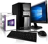Komplett Flüster-PC Paket Intel Quad-Core Office/Multimedia shinobee Computer mit 3 Jahren...