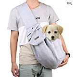 aokur Hundetasche Single-Schulter Sling Bag Haustier Hund Katze Vlies Tasche Rucksack Schultertasche...