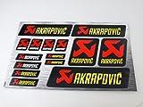 Akrapovic Auspuff Aufkleber Decals 30x20cm Hitzebeständiges Vinyl mit extra Schutz oben
