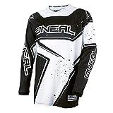 O'Neal Element Racewear Jersey Schwarz Weiß MX MTB DH Trikot Motocross Offroad, 0028-10, Größe L