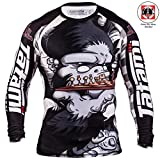 Tatami Rashguard Chess Gorilla - Langarm - Herren Rash Guard MMA Grappling Fitness (L)