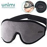 Unimi Premium Schlafmaske Damen und Herren, NULL-Druck 3D konturierte verbesserte Augenmaske,...