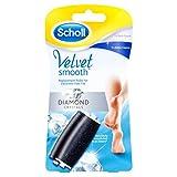 Scholl Velvet Smooth Express Pedi Ersatzrollen mit Diamantpartikeln (1 x Extra Stark & 1 x Fein)