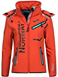Geographical Norway Damen Softshelljacke Romantic flashy coral/blue M