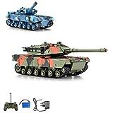 RC ferngesteuerter German Leopard Kampf Panzer Tank Kettenfahrzeug, Schusssimulation, Sound- und...