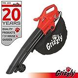 Grizzly Elektro 3in1 Laubsauger Laubbläser Häcksler EL 2800 Blasgeschwindigkeit 270 km/h 2800 Watt...