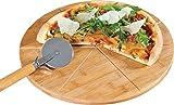 Pizza-Teller mit Pizza-Schneider H x Durchmesser: 1,5 x 32 cm
