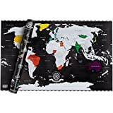 Scrape off World Map Limited Edition - Weltkarte zum Rubbeln - Landkarte Deluxe Wandbild Luxus...