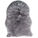 Faux Lammfell Schaffell Teppich Longhair Fell Nachahmung Wolle Bettvorleger Sofa Matte 60 x 90 cm...