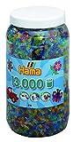 Hama 211-54 - Bügelperlen Dose mit circa 13.000 Perlen, transparent mit Glitter