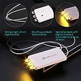 YUNLIGHTS 10 Pack Warm Weiß LED Ballon Lichter mit 3 LEDs für Papierlaternen-Ballons Nachtlichter...