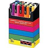 uniball Pigmentmarker POSCA PC5M, 15erEtui, farbig sort.