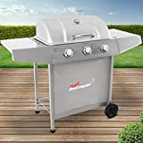 broil-master BBQ Edelstahl Gasgrill mit 3 brenern | Grillfläche 61 x 35 cm, Deckel mit Thermometer...