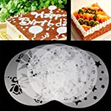 5 Stück Kuchendekoschablonen Set Tortenschablone Dekorschablone Kuchendeko Tortendeko Kuchen Torten...