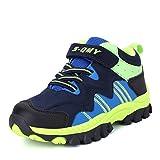 Zaone Kinder Wanderschuhe mit Klettverschluss Warm Gefüttert Sneaker Outdoor Wander Trekking Schuhe...