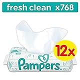 Pampers Sensitive Feuchttücher, 672 Tücher, 12er Pack (12 x 56 Stück)