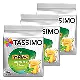 Tassimo Twinings Grüner Tee mit Minze, natürliches Minze-Aroma, Kapsel, 3er Pack, 3 x 16 T-Discs