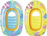 Bestway - Sea Set Children's Raft 112x71 cm, Kinderboot, zwei farbig sortiert