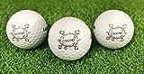 3er Set Golf ' Fore ' Motivgolfbälle in Box / Golfgeschenk / Golfbälle mit Fore Motiv