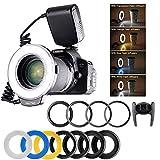 Ringblitz für Canon Nikon Panasonic Olympus Pentax SLR Kameras - Yeeteem 48 Makro LED Ring...