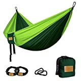 Camping Hängematte, großflächige Doppel hängematte, Premium Tragbare leichte Fallschirm Nylon...