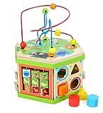 Motorikwürfel 'Safari', Baby-Kinderspielzeug aus Holz, vielfältiges Spielerlebnis auf sieben...