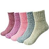 JT-Amigo 5er Pack Damen Socken Thermo Wintersocken