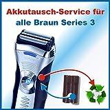 Profi-Akkuwechsel Akkutausch für alle Braun Rasierer der Series3 - sämtliche Modelle ! ACHTUNG!!!...