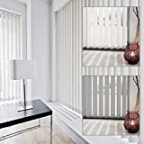 Schiebevorhang Vertikal-Jalousien Lamellenvorhang Schiebegardine Vorhang 89 mm (150 x 260 cm, weiß)